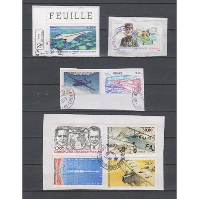 France - Timbres de poste aérienne sur fragment - Cote €15