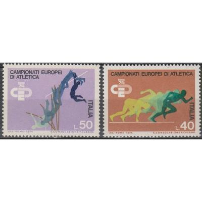 Italie - Sports - yt.1180/81 neufs ** de 1974 - Cote €0.60