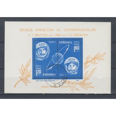 Roumanie - Espace de 1963 oblitéré