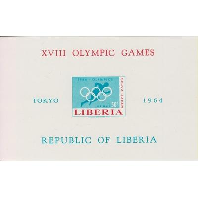 Libéria - Jeux olympiques de Tokyo de 1964 neuf ** - Cote €9