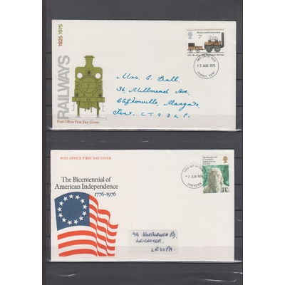 Grande Bretagne - Enveloppes FDC avec notices des années 70 (3 photos) - Cote €10