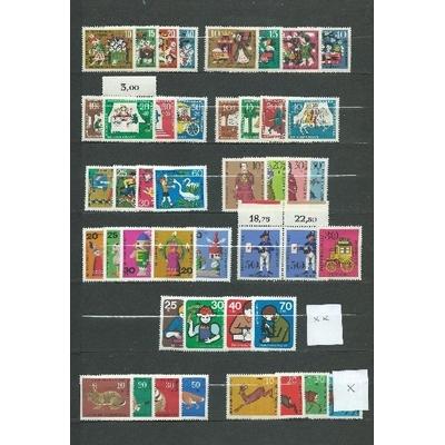 Allemagne - Collection de séries à surtaxes neuves **/* - Cote €35