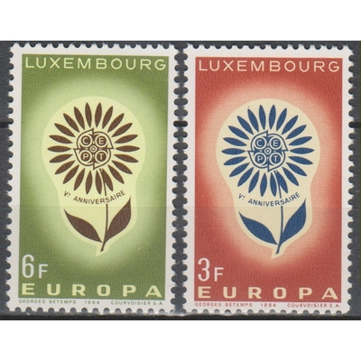 Europa 1964 - Luxembourg - yt.648/49 neufs ** - Cote €1.25