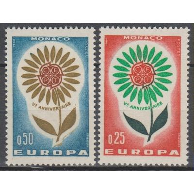 Europa 1964 - Monaco - yt.652/53 neufs ** - Cote €2.50