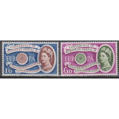 Europa 1960 - Grande Bretagne - yt.357/58 neufs ** - Cote €14