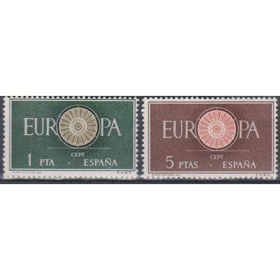 Europa 1960 - Espagne - yt.975/76 neufs ** - Cote €2.75
