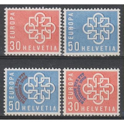 Europa 1959 - Suisse - yt.630/33 neufs ** - €37.50