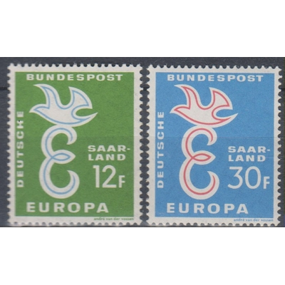 Europa 1958 - Sarre - yt.421/22 neufs ** - Cote €2.25
