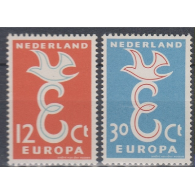 Europa 1958 - Pays-Bas - yt.691/92 neufs ** - Cote €2.50