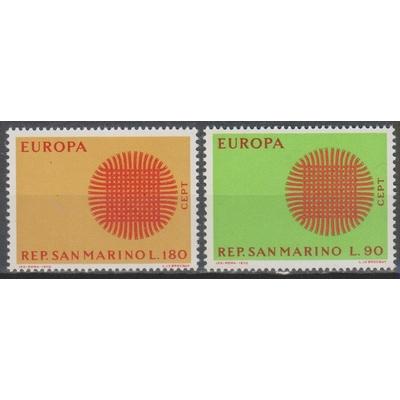 Europa 1970 - Saint Marin - yt.762/63 neufs ** - Cote €1.25