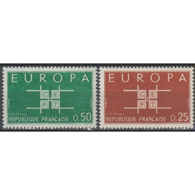 Europa 1963 - France - yt.1396/97 neufs ** - Cote €1.00
