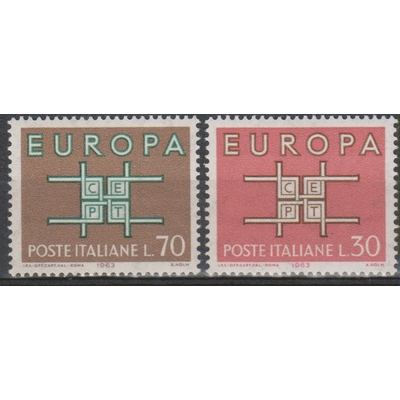 Europa 1963 - Italie - yt.895/96 neufs ** - Cote €1.00