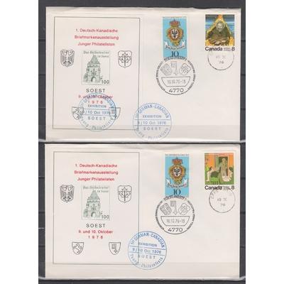 Allemagne - Exposition Germano-Canadienne + blocs souvenirs sur deux enveloppes