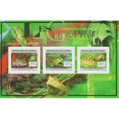 Guinée - Les grenouilles - Feuillet neuf ** de 2011