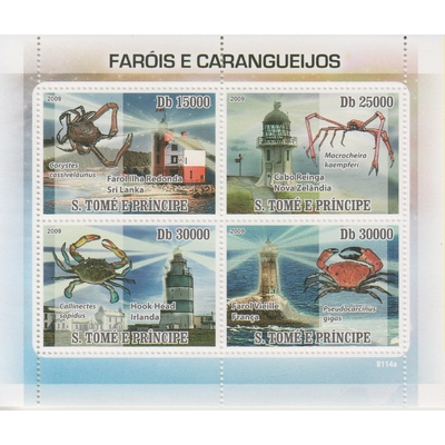 Saint-Thomas - Phares et crabes - Feuillet neuf ** de 2009 - Cote €18