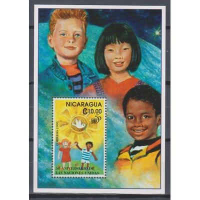 Nicaragua - 50 ans Nations-Unies - BF de 1995 neuf ** - Cote €4.50