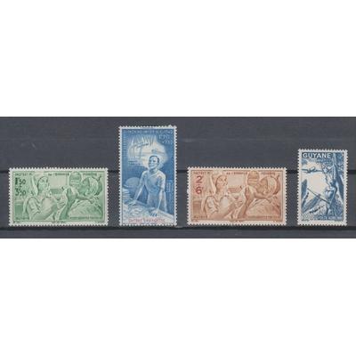 Guyane Française - Lot de timbres de poste aérienne neufs * - Cote €4.70