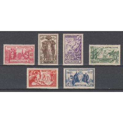 Mauritanie - Exposition de Paris - yt.66/71 neufs * - Cote €11