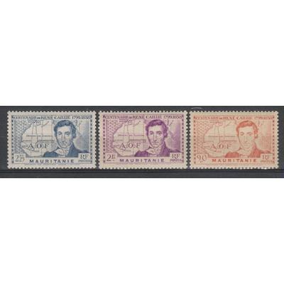 Mauritanie - René Caillié - yt.95/97 neufs **/* - Cote €5.40