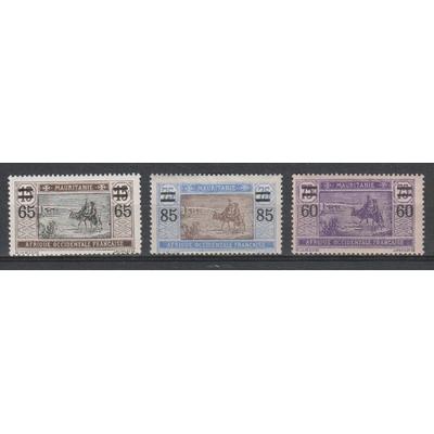 Mauritanie - Série surchargée de 1922/25 neuve */** - Cote €5
