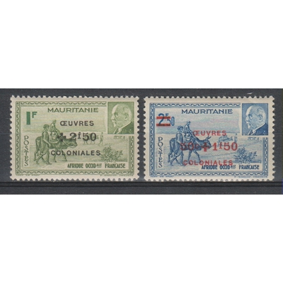 Mauritanie - Oeuvres coloniales - yt.131/32 neufs ** - Cote €2