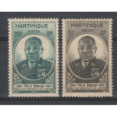 Martinique - Eboué - yt.218/19 neufs ** - Cote €2.20