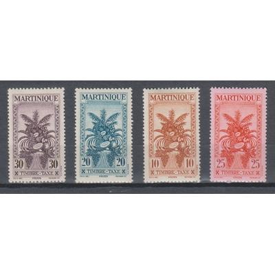Martinique - Taxes sans RF de 1943 - yt.T23/26 neufs * - Cote €6