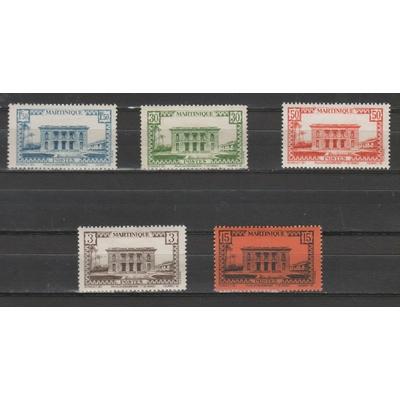 Martinique - Série sans RF de 1942 neufs * - Cote €4.15