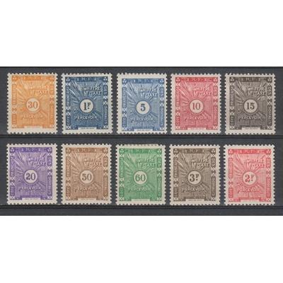 Cote des Somalis - Taxes de 1915 yt.1/8 neufs - Cote €23