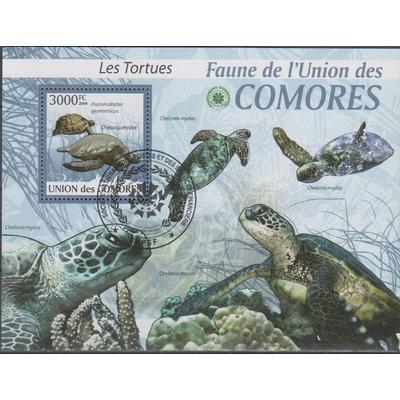 Comores - Tortues - BF de 2009 oblitéré
