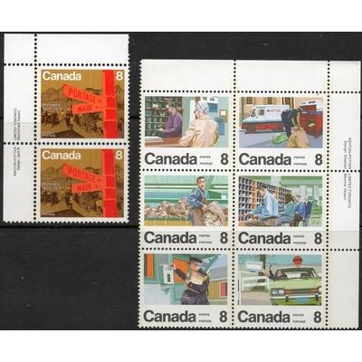 Canada - Sélection de timbres neufs en paires et blocs de 4 (2 photos) - Cote €18