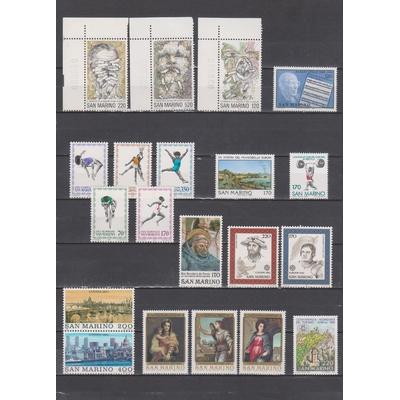 Saint-Marin - Sélection d'émissions neuves ** de 1980 - Cote €12