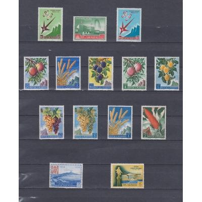 Saint-Marin - Sélection d'émissions neuves ** de 1958 - Cote €14