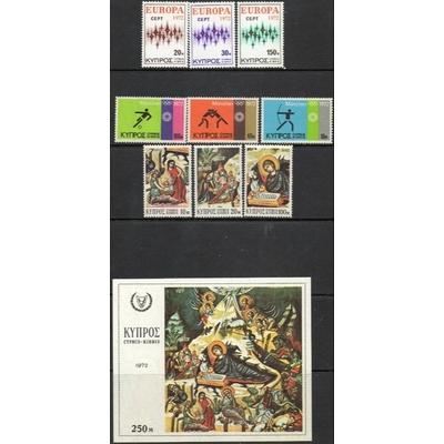 Chypre - Sélection de séries complètes de 1972 neuves ** - Cote €13