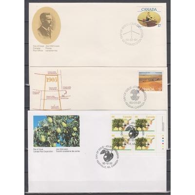 Canada - Collection d'enveloppes 1er-jour (5 photos)