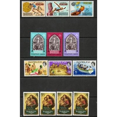 Barbuda - Sélection de timbres des années 1968-69