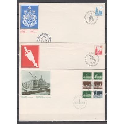Canada - Collection de FDC de séries courantes de 1977/85