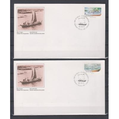 Canada - FDC sur les bateaux de 1990