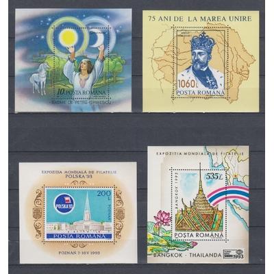 Roumanie - Collection de blocs-feuillets neufs ** (4 photos) -Cote €72