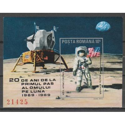 Roumanie - L'homme sur la Lune - BF205A neuf ** - Cote €35
