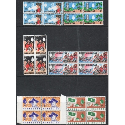 Gibraltar - Séries complètes neuves ** en blocs de 4 (3 photos) - Cote €28