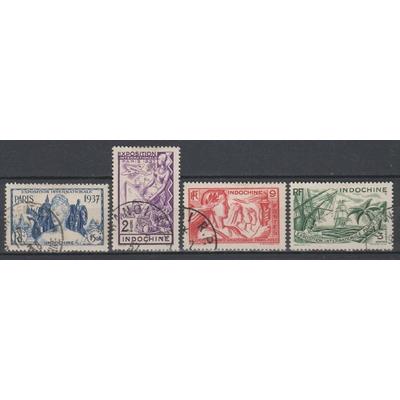 Indochine - Exposition de Paris - Timbres oblitérés - Cote €6.50