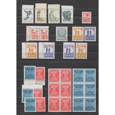 Yougoslavie - Collection de timbres neufs ** - Cote €19