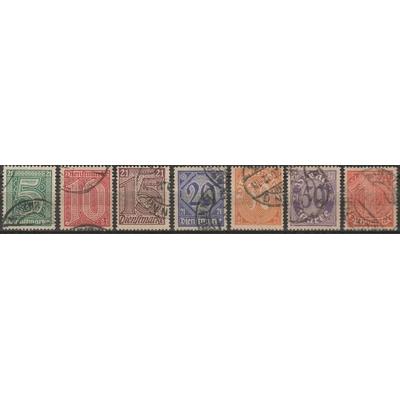 Allemagne - Timbres de service de 1920 - yt.S9/15 oblitérés - Cote €11