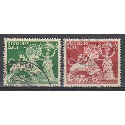 Allemagne - Orfèvrerie - yt.740/41 oblitérés - Cote €2.50