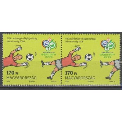Hongrie - Coupe du monde de football - yt.4103 se-tenant neuf ** - Cote €4.40
