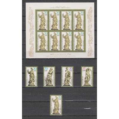 Allemagne - Oeuvres d'art - Série + BF + timbre du feuillet neufs ** - Cote €7.25