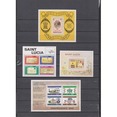 Sainte-Lucie - Collection de blocs feuillets neufs ** (2 photos) - Cote €23
