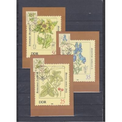 Allemagne - Plantes - 6 cartes maximums (2 photos) de 1982