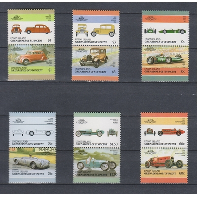Union Island - Automobiles - Série de 1985 neuve ** - Cote €9